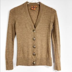 Tory Burch Brown long sleeves button down cardigan